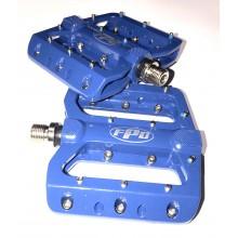 Педаль алюминиевая ,модель 393, FPD ,размер 9/16, с пром подшипник, синий , Тайвань
