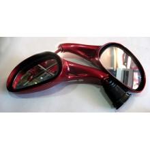 Зеркало для  скутера , без поворотов, красный