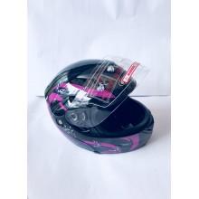 """Шлем """"трансформер"""" ,без очков ,размер L(57,58) ,с бабочками , чёрный"""
